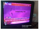 purple color in crt tv