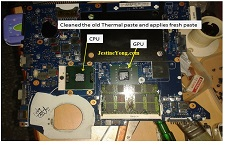 servicing laptop motherboard repair