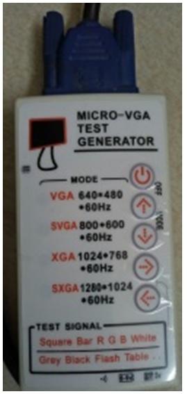 micro vga test generator