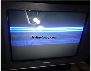 crt tv repair one horizontal line