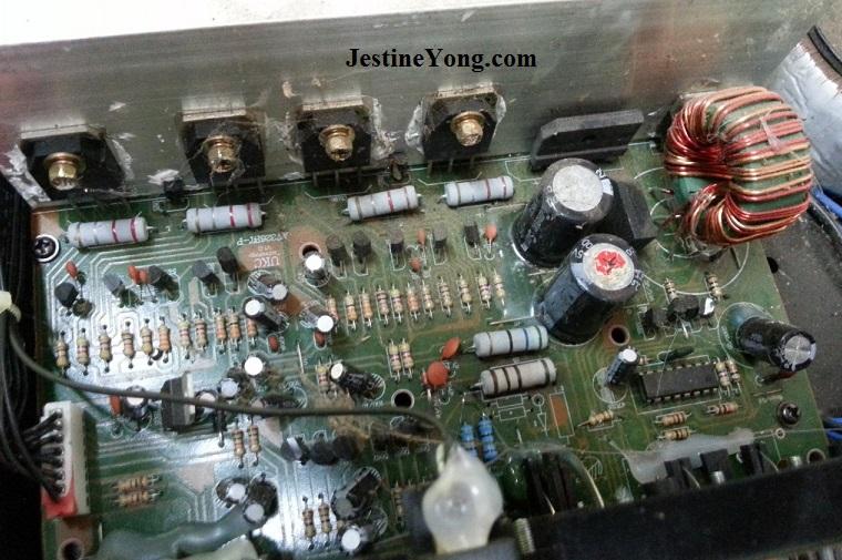 how to repair mixer amplifier