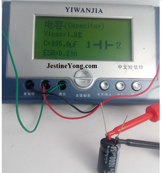 yiwanjia capacitor tester