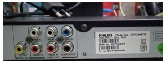 dvd player output jack