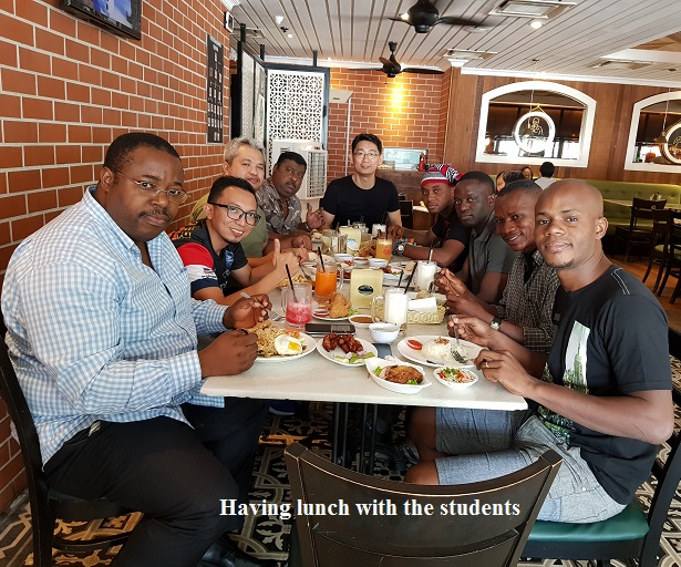 lunch time with the students
