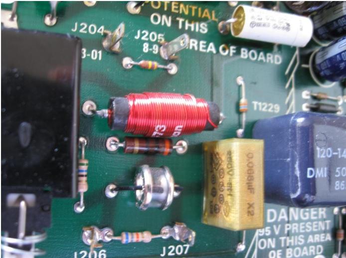 bad parts in tektronix scope