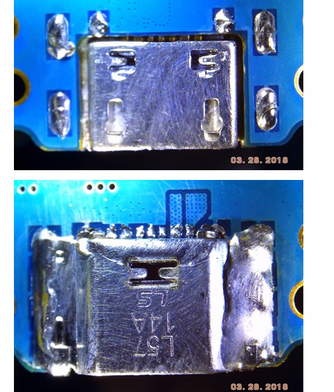 microsoldering of the phone