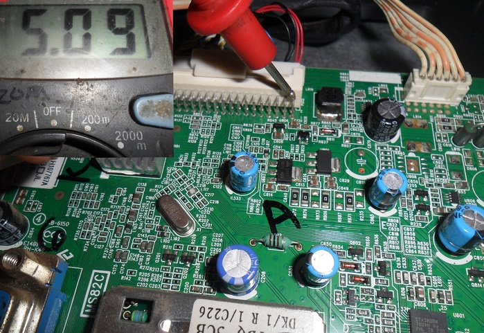 checking voltage in mainboard