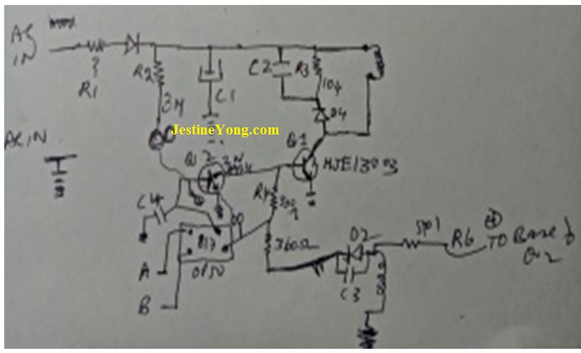power supply hand drawn schematic