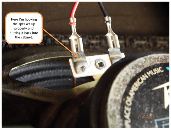 connector to speaker