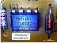 tl072cp ic amplifier repair