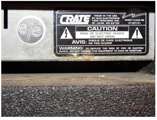 crate bx15 amplifier fix