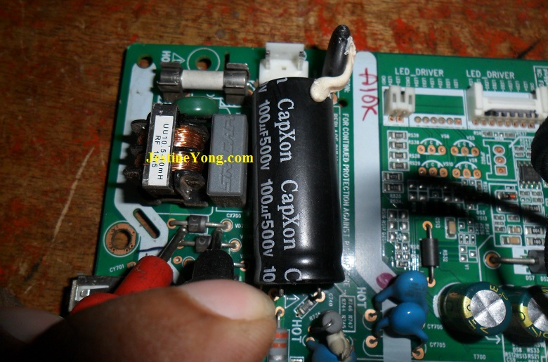 testing components in led tv