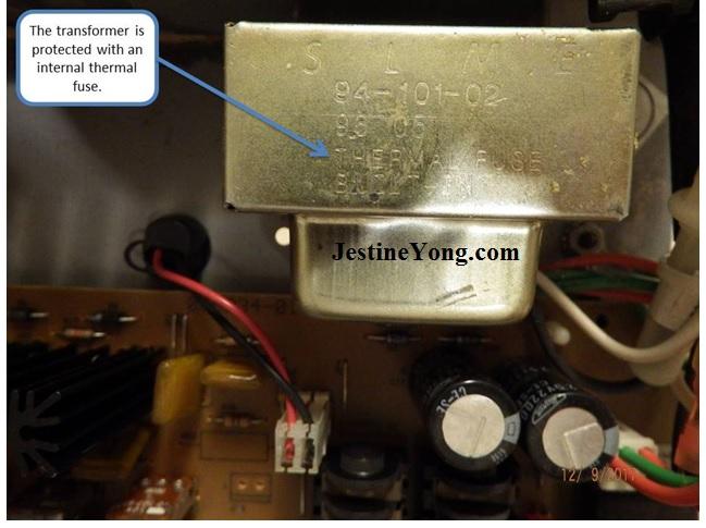 transformer internal fuse