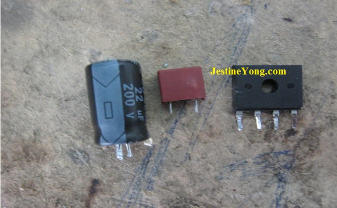 shorted electronic components