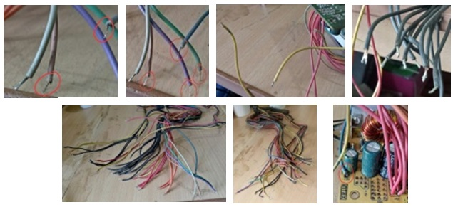 power supply wires