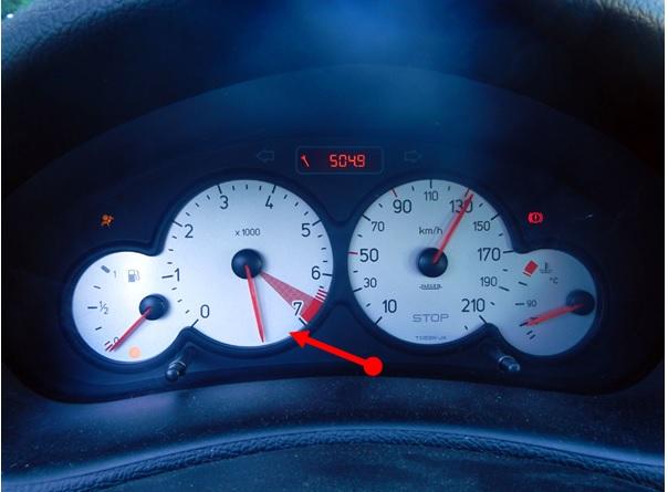 Peugeot 206 incorrect gauges fix