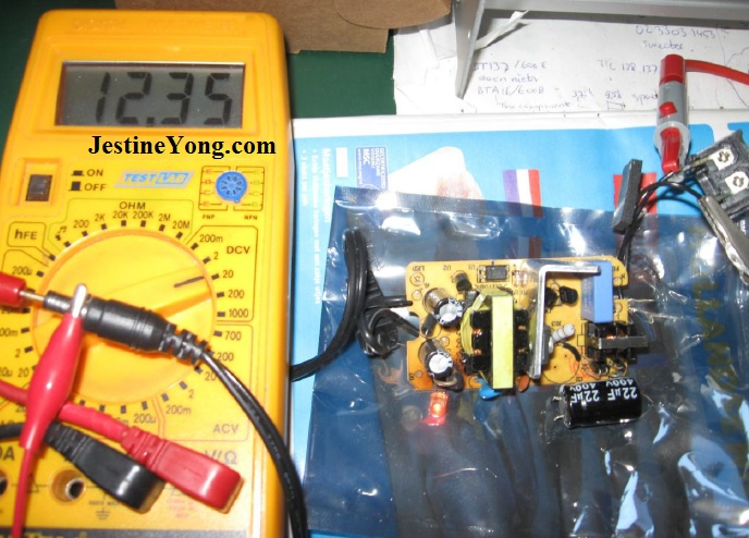 how to test dc output voltage from a power supply