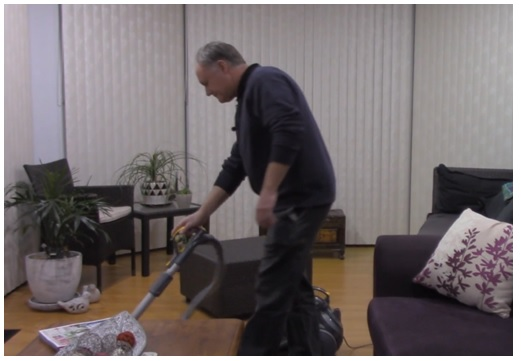 testing dyson vacuum cleaner