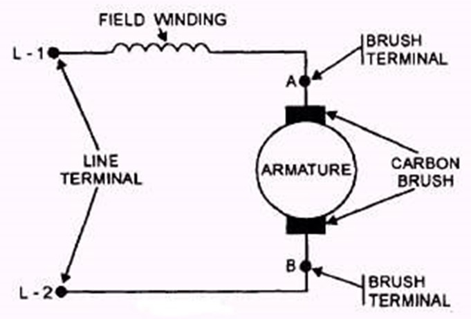 motor winding schematic