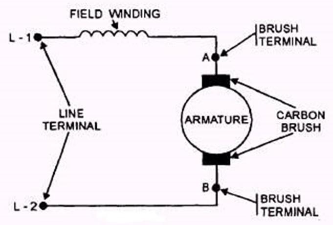 motor winding schematic