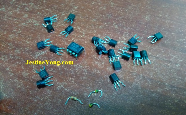 bad components in amplifier