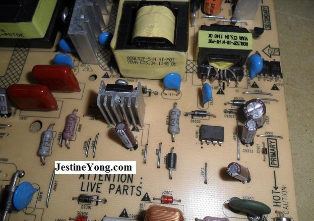 lcd tv power board repair