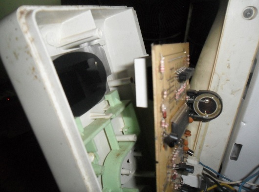 open microwave oven front cover