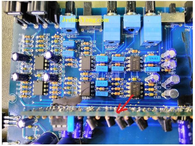 repairing power acoustic amplifier