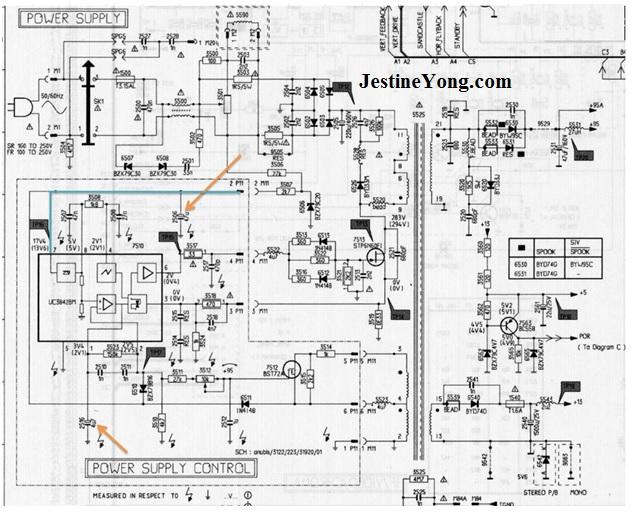 tv schematic diagram