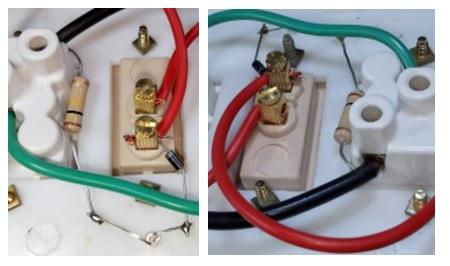 wiring in plug