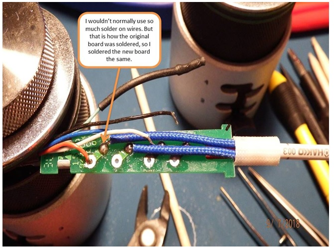 solder on heating element