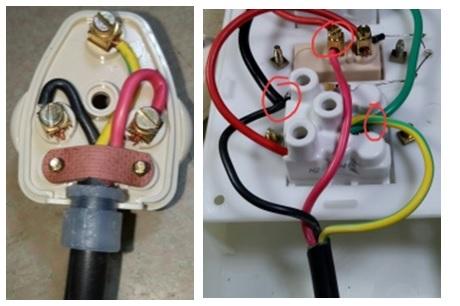 wiring in 3 pin plug