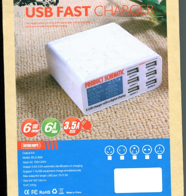 6 usb charger specification