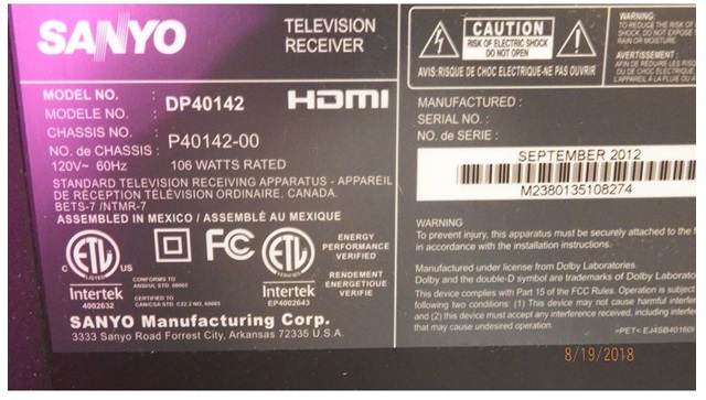 Sanyo DP40142 LED/LCD TV Repair | Electronics Repair And Technology News