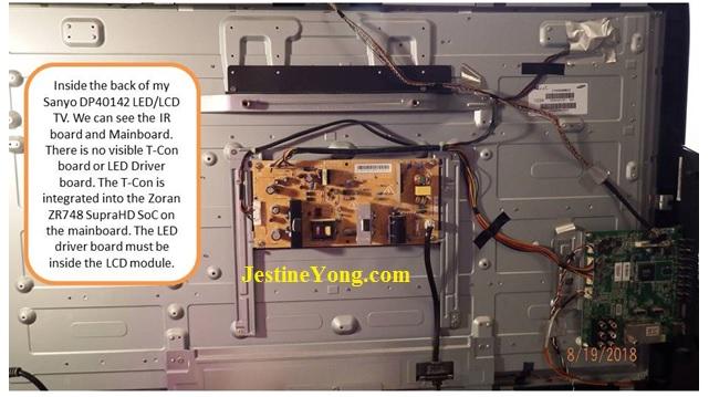 sanyo dp40142 led tv fix