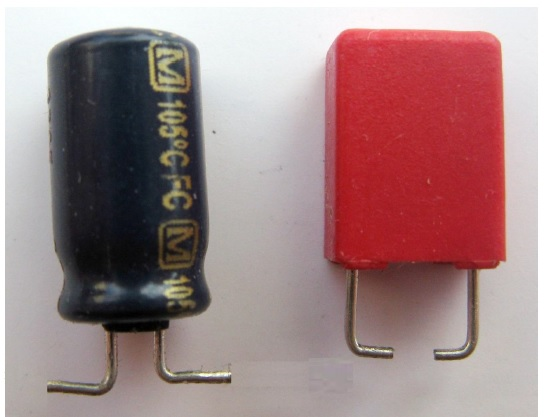 bad capacitor in audio equipment