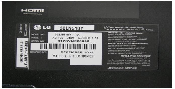 LG 32LN510Y-TA tv repair