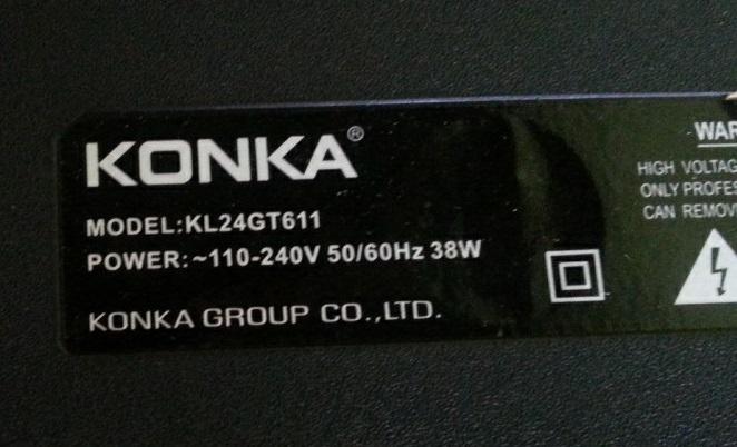 konka led tv repair