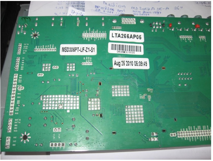 fixing lcd tv mainboard