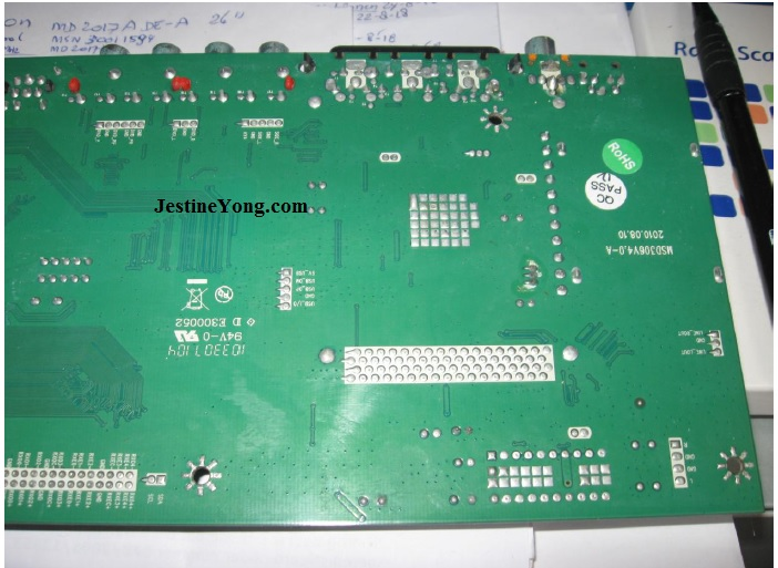 repairing lcd tv mainboard