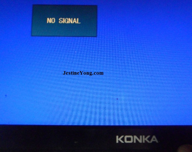 konka led tv repair no signal problem