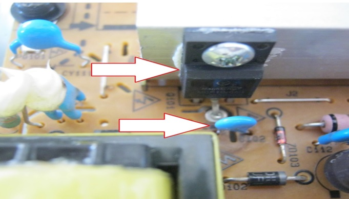 fet and capacitor shorted in lg lcd tv power supply