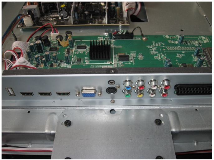 how to repair lcd tv mainboard