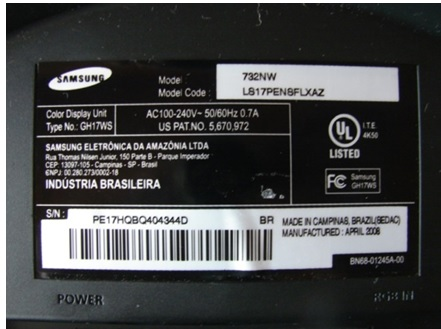 samsung 732nw lcd monitor repair