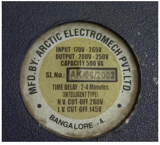 Voltage stabilizer fix