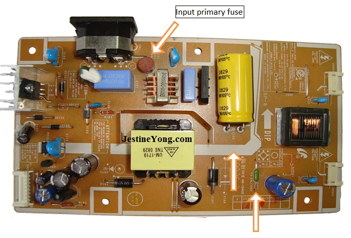 Model 732NW Samsung LCD Monitor with hidden fuse blown ... on