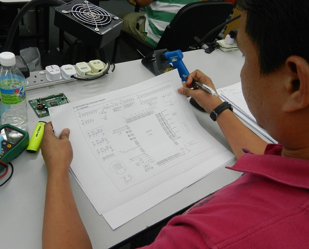 how to read schematic diagram class