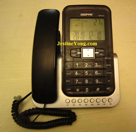 repairing desk caller id telephone