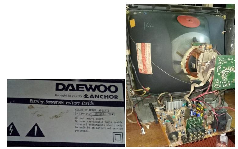 daewoo crt tv repair