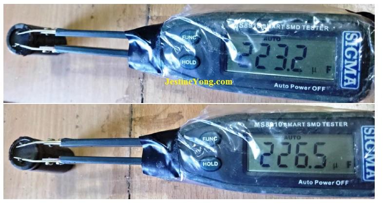 bad capacitor 330uf